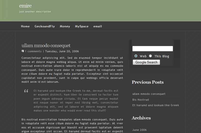 emire blogspot blogger template download