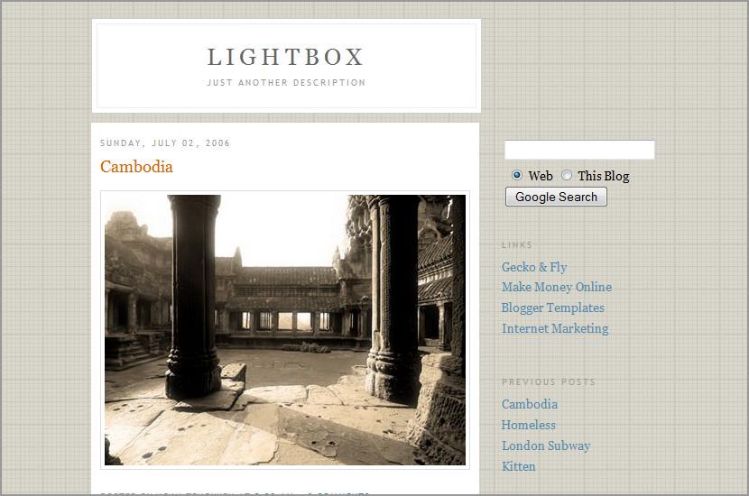 lightbox google blogspot template