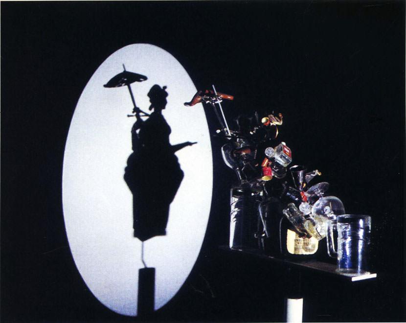 shadow of a geisha girl