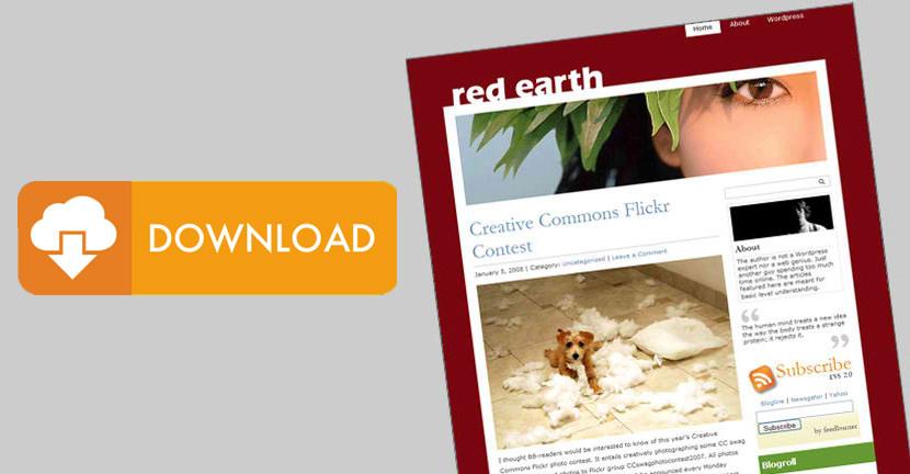 Red Earth WordPress Theme