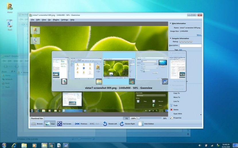 Download Microsoft Windows 7 Transformation Theme Pack for Kubuntu 9.04