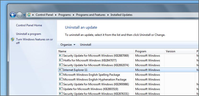 Uninstall Windows IE8 and Reinstall Internet Explorer