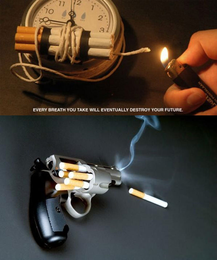 Quit Smoking Ads Campaign Very Creative 'How To Quit Smoking Cigarettes Ads' and Posters