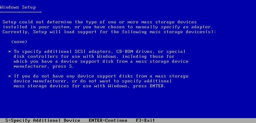 'Setup Did Not Find Any Hard Disk Drives' Error During Windows XP Installation
