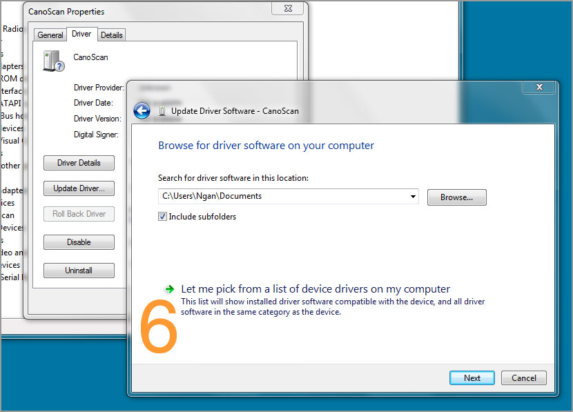 pilote canoscan lide 25 windows 7