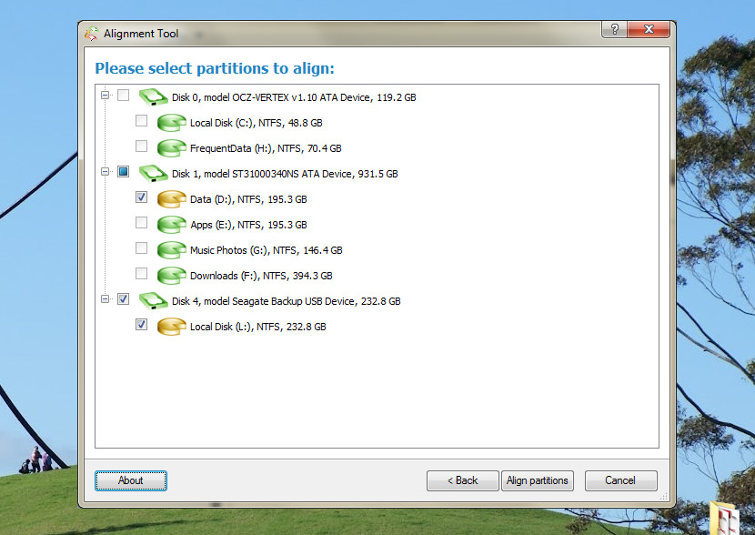 FREE Windows Hard Disk And SSD Partition Alignment Software
