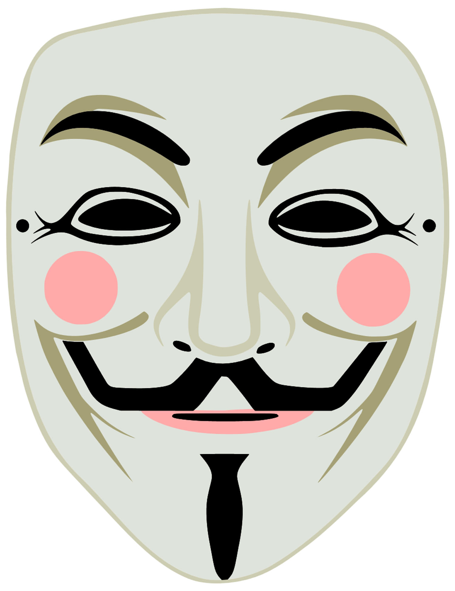Printable Guy Fawkes Mask Cut Out  Face Masks Templates