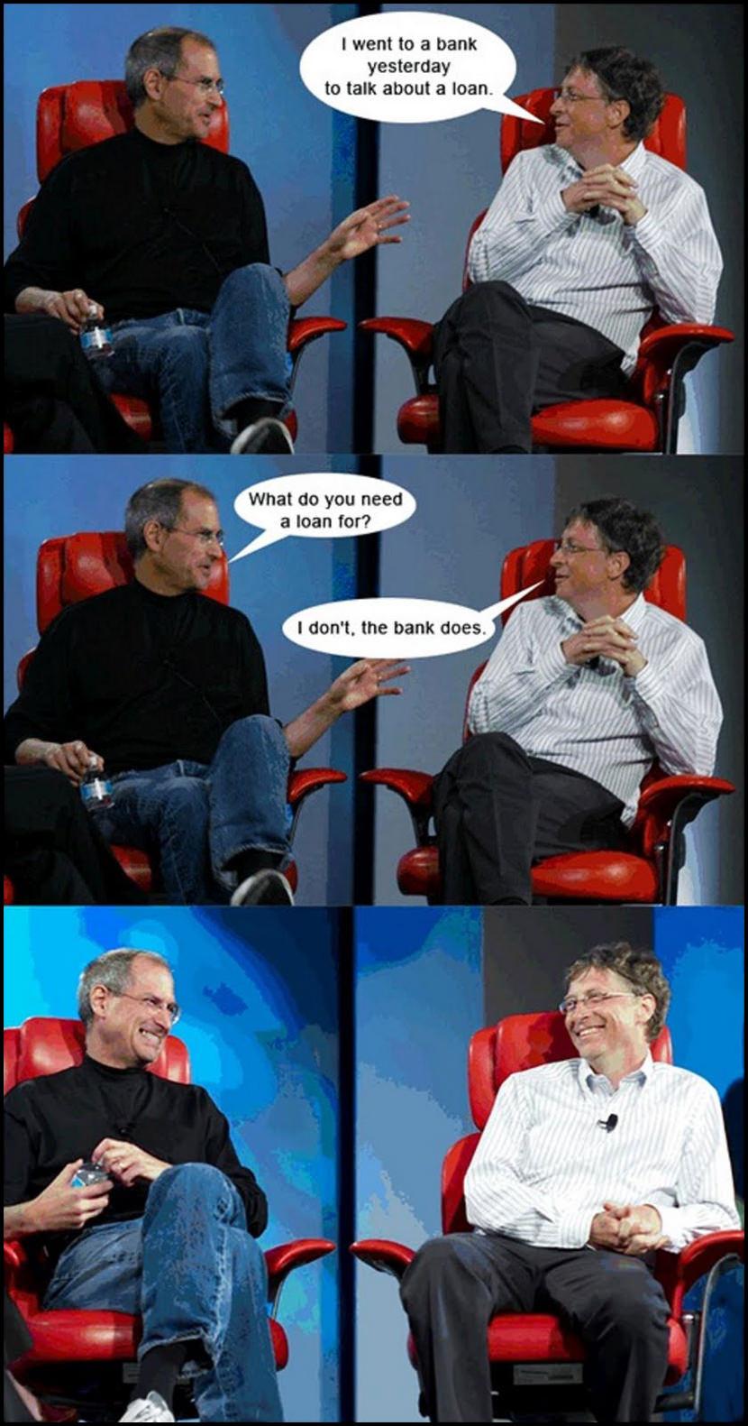 Bank Borrowing From Bill Gates