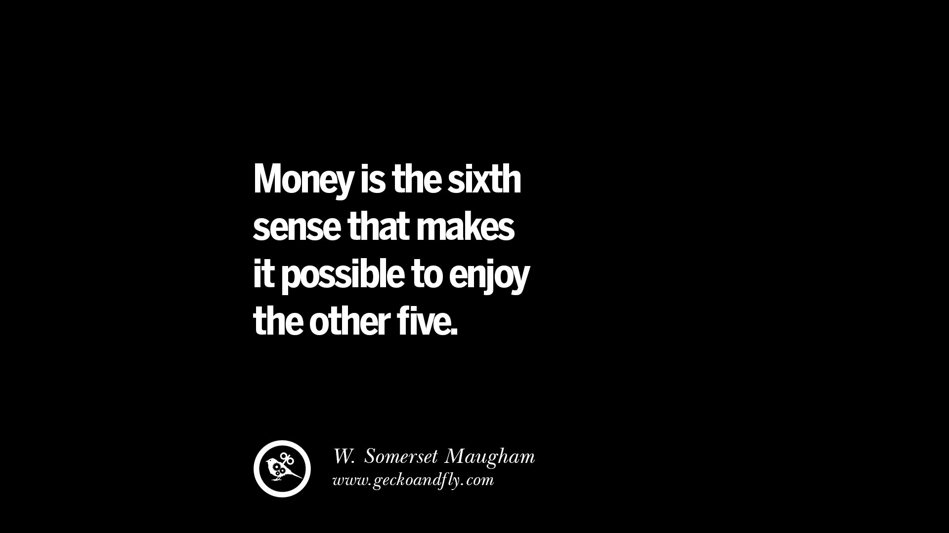 essay on money is the sixth sense