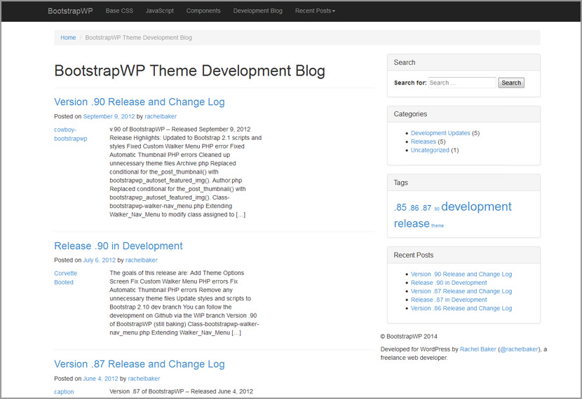 twitter wordpress theme design download