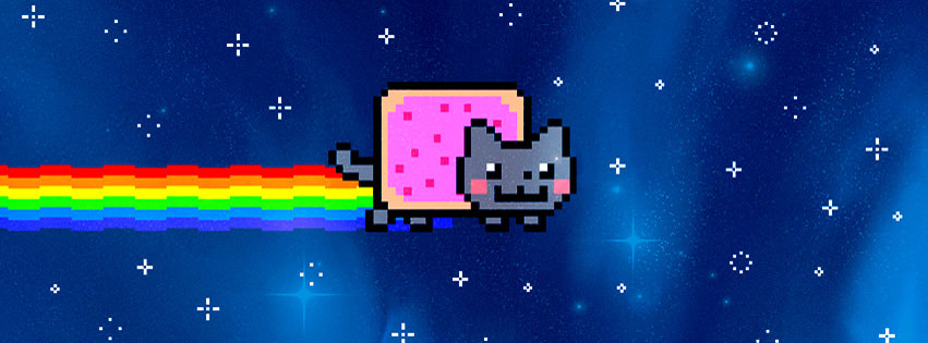 Nyan Cat Facebook Timeline Cover