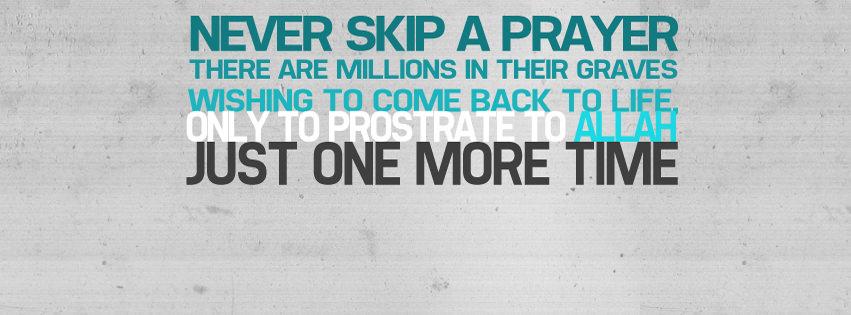 never Skip a Prayer Islamic Cover Photo