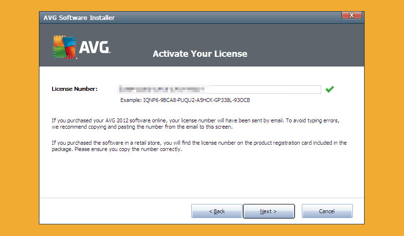 avg license number