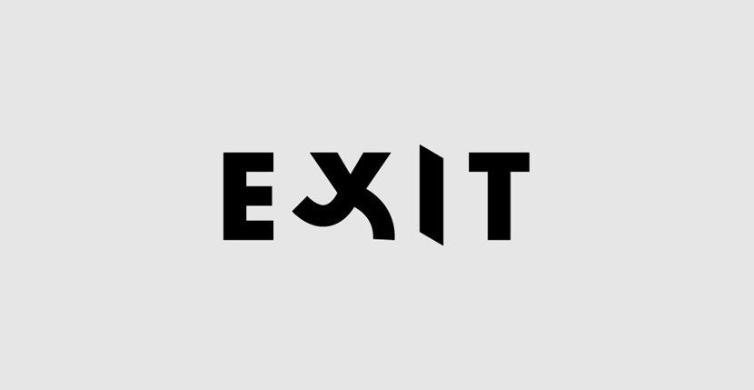 exit Creative Word Art Images As Iconic Logos