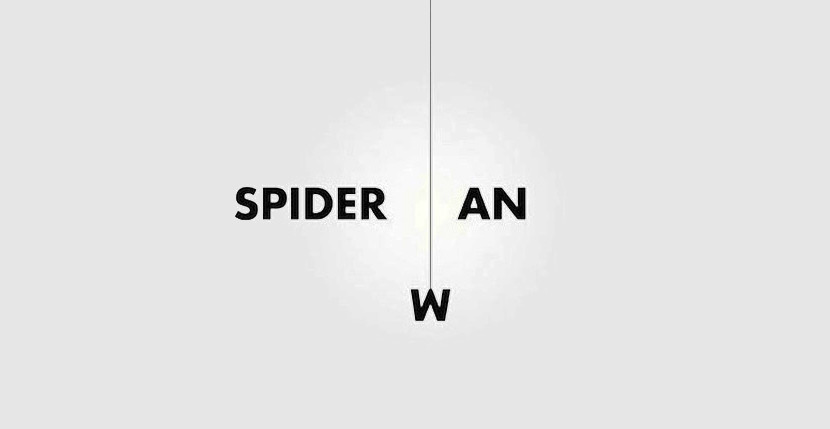 spiderman Creative Word Art Images As Iconic Logos