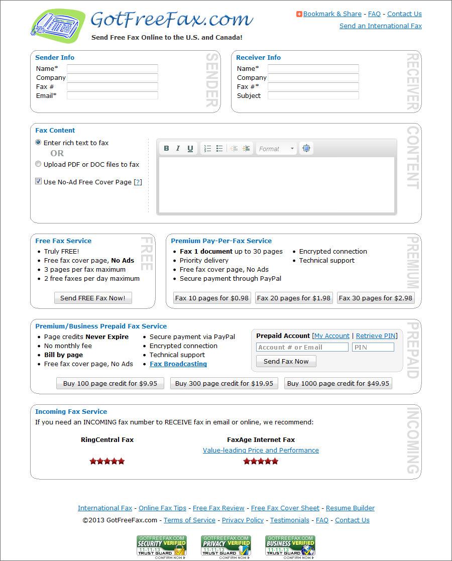 got free fax com