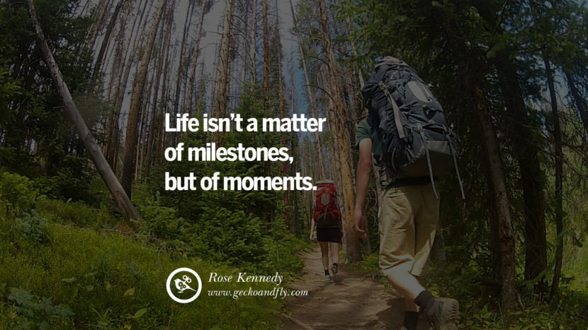 Inspiring Quotes about Life Life isn't a matter of milestones, but of moments. - Rose Kennedy