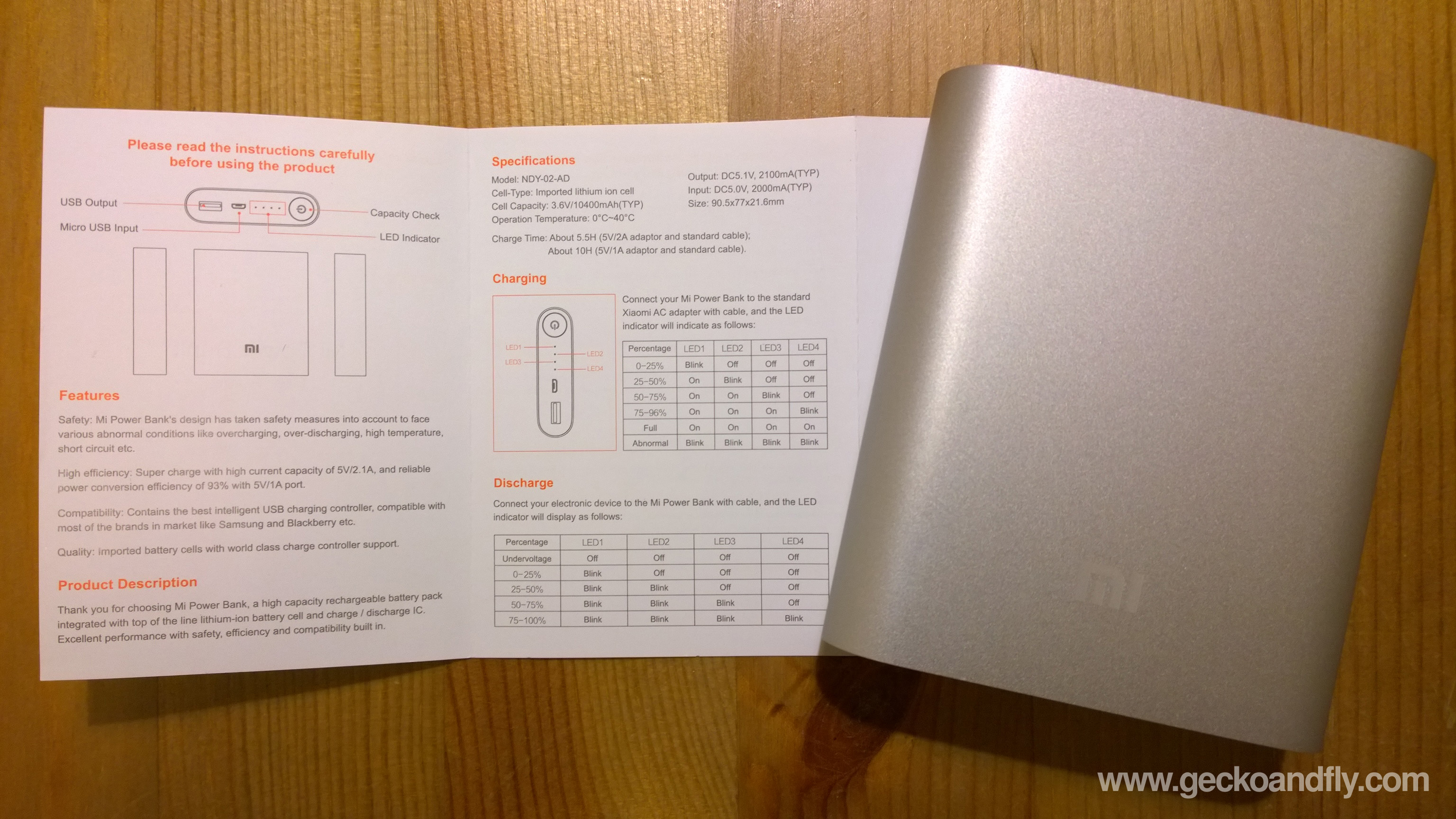 инструкция xiaomi mi power bank 5000