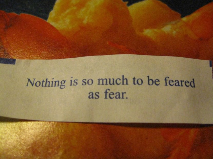 Nothing is so much to be feared as fear. Best Inspirational Chinese Japanese Fortune Cookie Quotes and Sayings On Life For Facebook And Tumblr