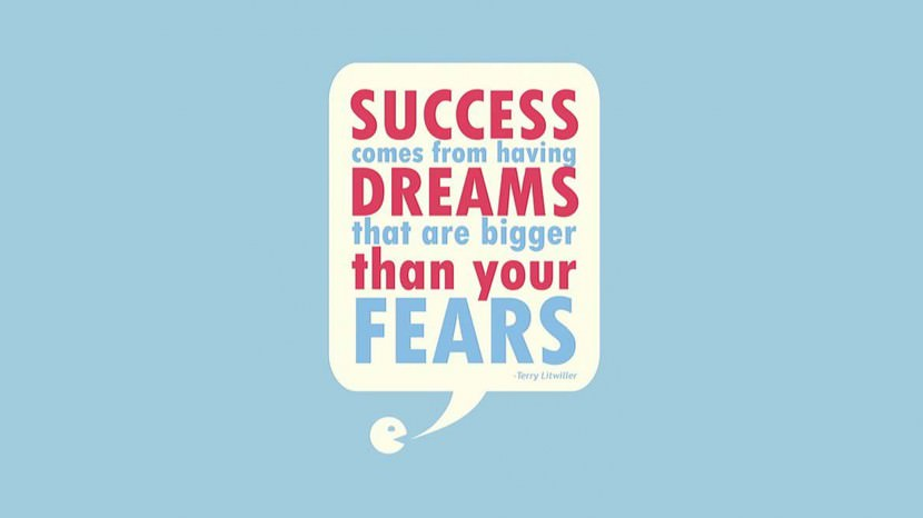 Success comes from having dreams that are bigger than your fears. – Terry Litwiller
