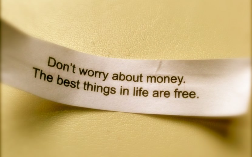 Don't worry about money. The best things in life are free. Best Inspirational Chinese Japanese Fortune Cookie Quotes and Sayings On Life For Facebook And Tumblr