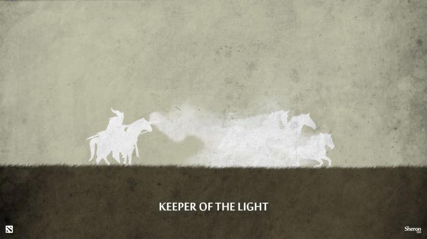 Keeper of Light download dota 2 heroes minimalist silhouette HD wallpaper