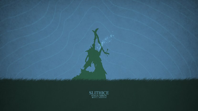 Naga Siren Slithice download dota 2 heroes minimalist silhouette HD wallpaper