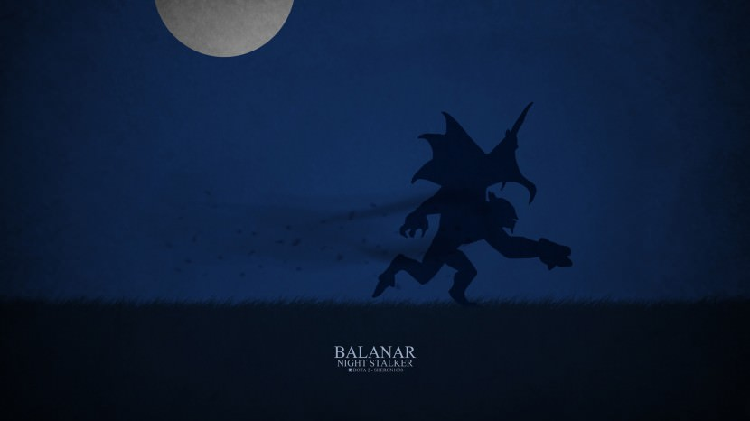 Night Stalker Balanar download dota 2 heroes minimalist silhouette HD wallpaper