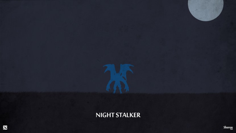 Night Stalker download dota 2 heroes minimalist silhouette HD wallpaper