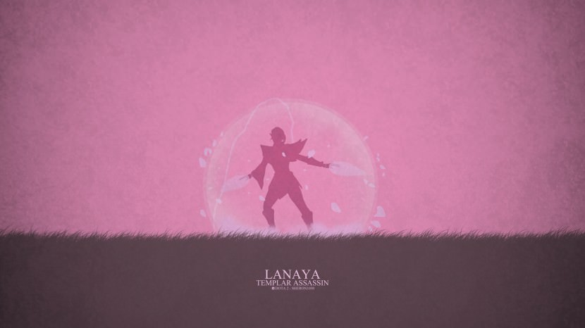 Templar Assassin Lanaya download dota 2 heroes minimalist silhouette HD wallpaper
