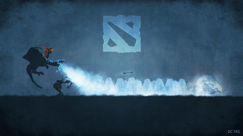 Dragon Frosty Bite download dota 2 heroes minimalist silhouette HD wallpaper