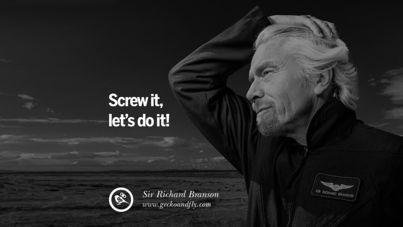Screw it, let's do it! sir richard branson necker island book house quotes wife worth wiki virgin space biography pinterest instagram facebook twitter