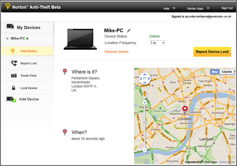 AntiTheft Free Location Tracking and WebCam Capturing Software to Recover Stolen Laptops