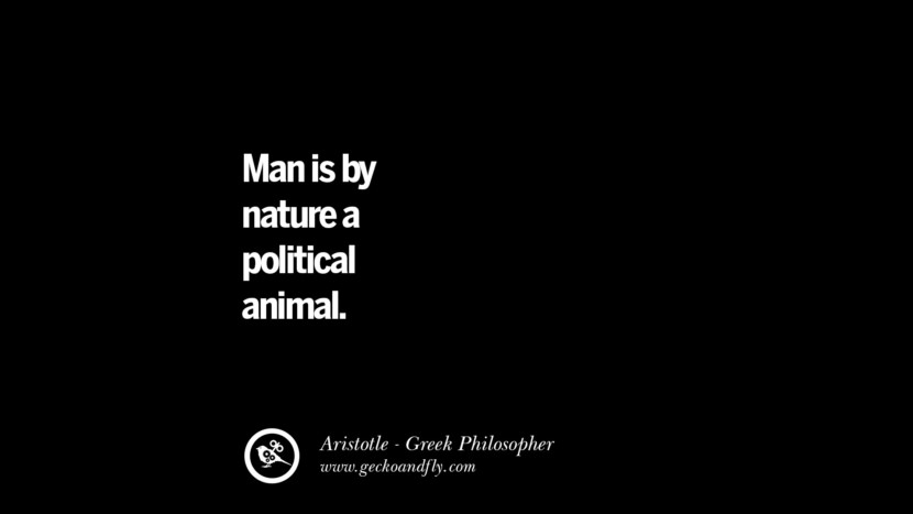 political animal meaning aristotle quote