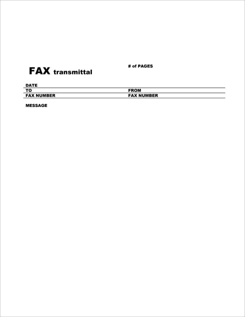 Download Free Fax Cover Templates Business Sheets In Microsoft Office DocX