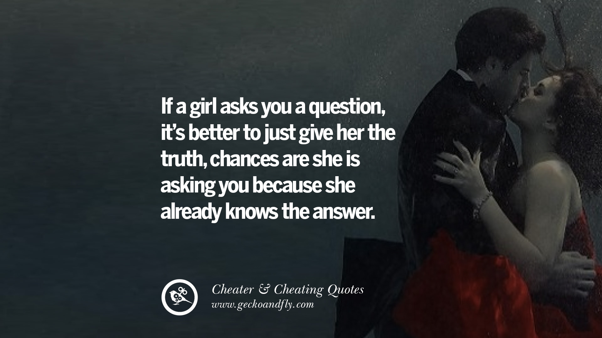 How to know she is lying about cheating