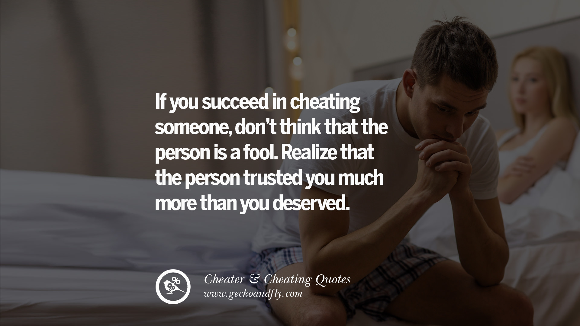 Your man is cheating on you
