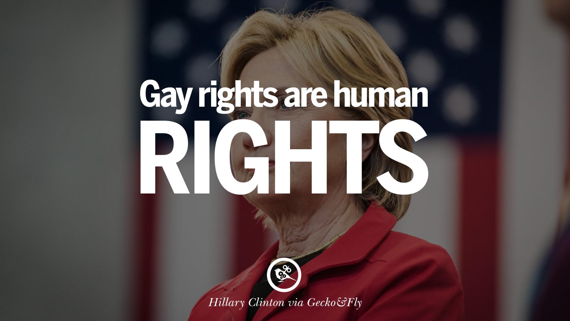 Hillary clinton on gay right