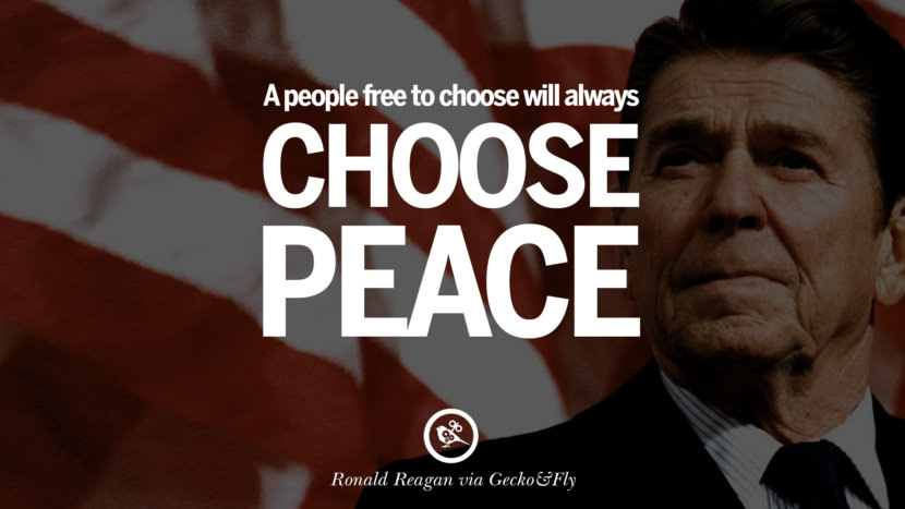 A people free to choose will always choose peace. best president ronald reagan quotes tumblr instagram pinterest inspiring library airport uss school