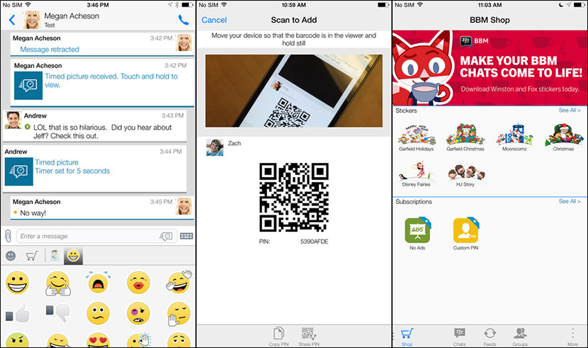 blackberry messenger live free Free Secure And Encrypted Text Messenger for iPhone iOS and Android