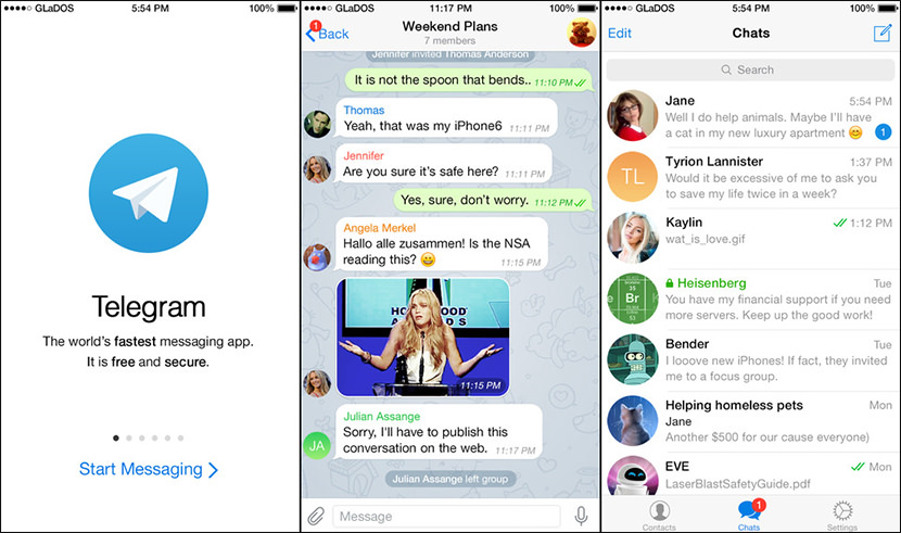 telegram chat secure Free Secure And Encrypted Text Messenger for iPhone iOS and Android