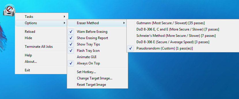 eraserdrop Freeware To Securely Erase All Data From HDD Hard Drive