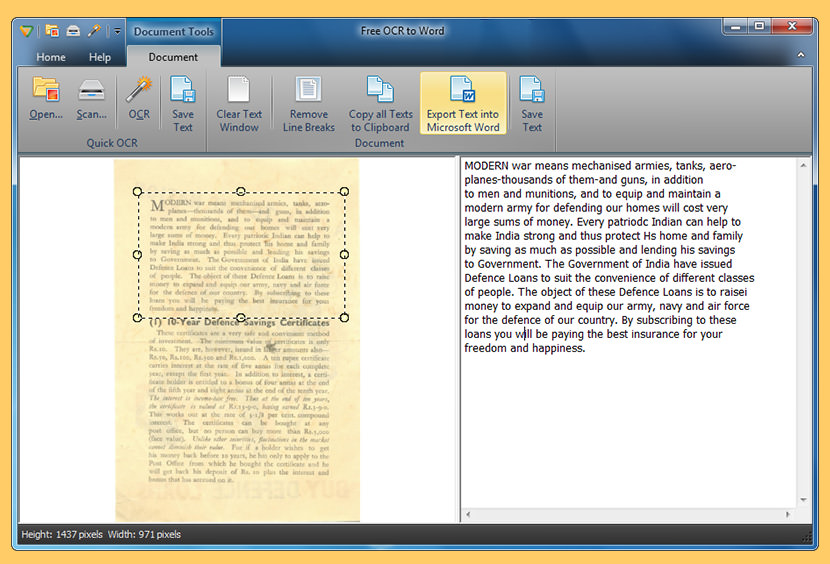 free ocr to word Free OCR Software To Convert PDF Into Editable Word Text