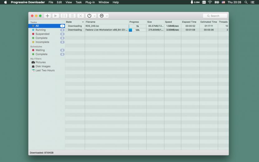 Progressive Downloader Free Internet Download Manager ( IDM ) For Apple macOS X