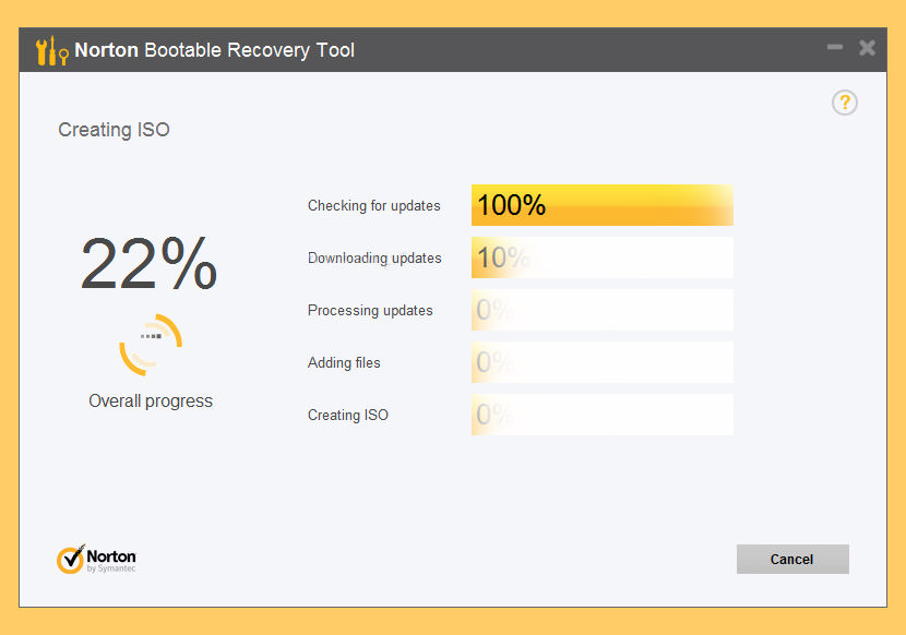 norton bootable recovery