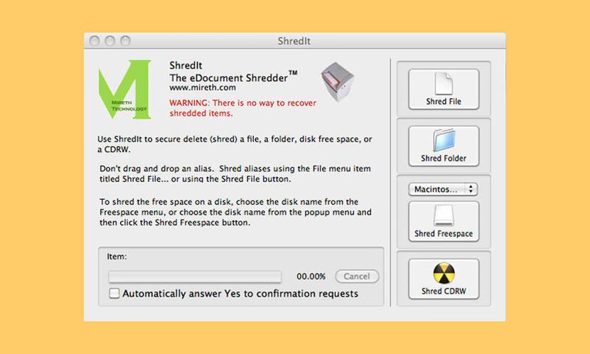 shred it x mac