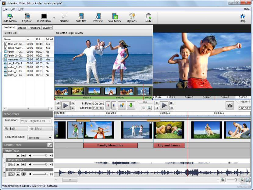 videopad Free Video Editing Software For YouTube Movies And Film