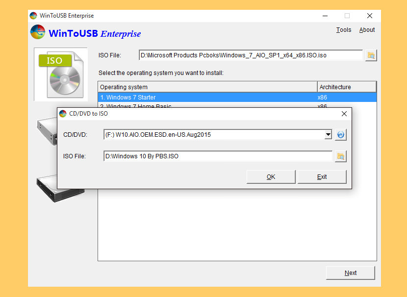 wintousb enterprise Free Tool To Create Bootable Windows 7 And 10 On A USB Drive