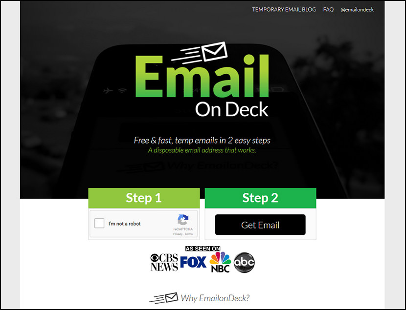 email on deck Free Temporary Disposable Email Services To Fight Spam