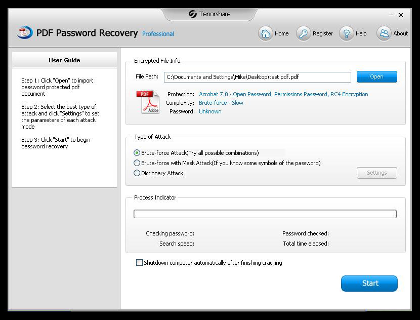 Remover pdf crack password